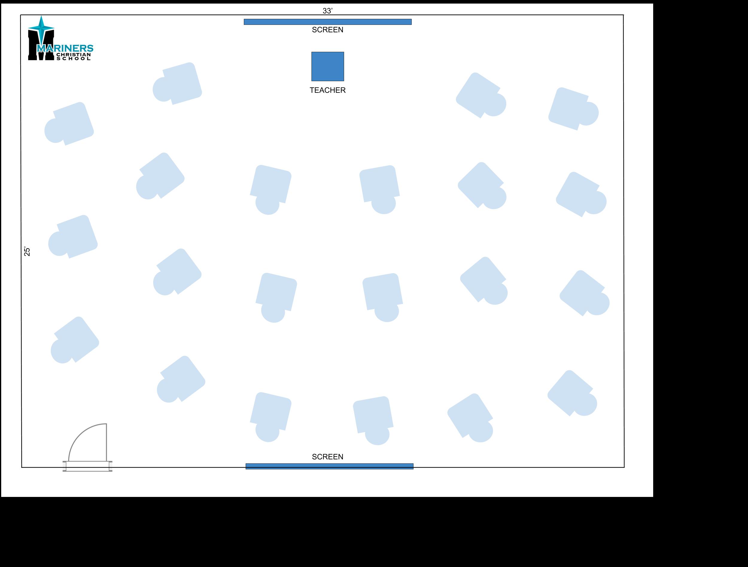 example MCS socially distanced classroom